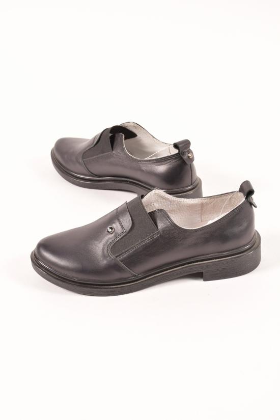 Туфли женские (цв.чёрный) из натуральной кожи VICHI Размер в наличии : 36 арт.28