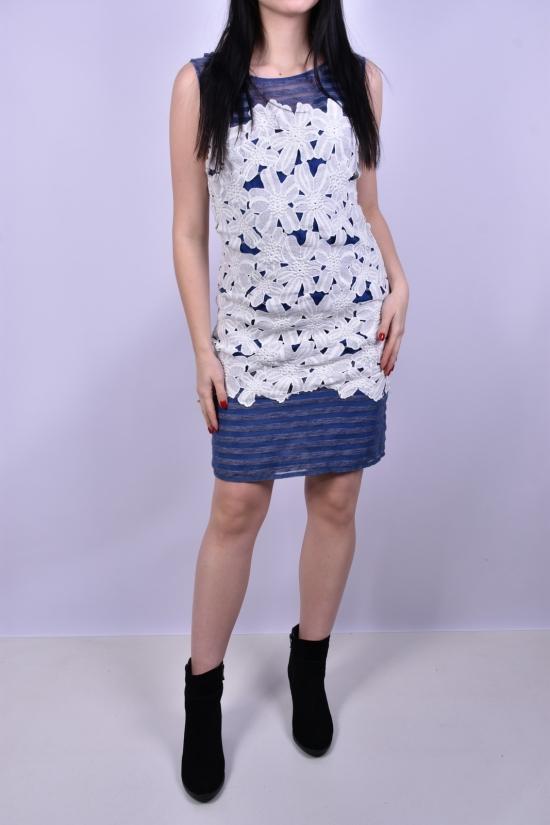 Платье женское комбинированное KIWE Размер в наличии : 42 арт.ZU054