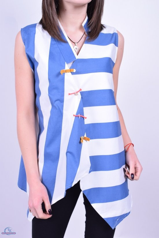 Блузка женская (цв.белый/голубой) GERTIE Размеры в наличии : 46,48,50,52 арт.5192-1