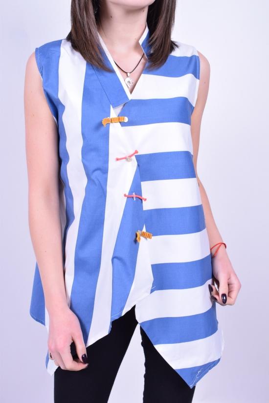 Блузка женская (цв.белый/голубой) GERTIE Размеры в наличии : 42,44,46,48 арт.5192