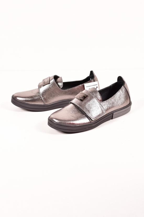 Туфли женские из натуральной кожи Violetti цв.бронзовый Размеры в наличии : 36,37,38,39,40,41 арт.2414