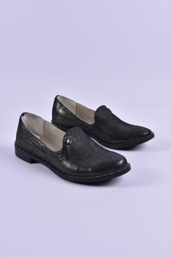 Туфли женские из натуральной кожи (цв.черный) Размеры в наличии : 36,37,38,39,40 арт.17