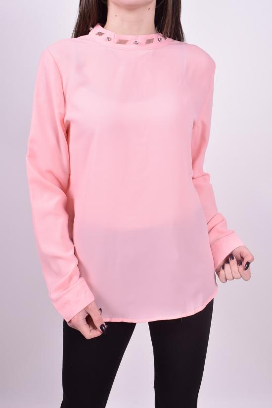 Блуза женская ( цв.розовый) Qianzhidu (Polyester 100%) Размеры в наличии : 36,38,40,44 арт.B80006