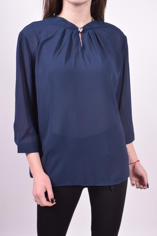Блуза женская ( цв.т.синий) Qianzhidu Размеры в наличии : 36,38,40,42,44 арт.B81017