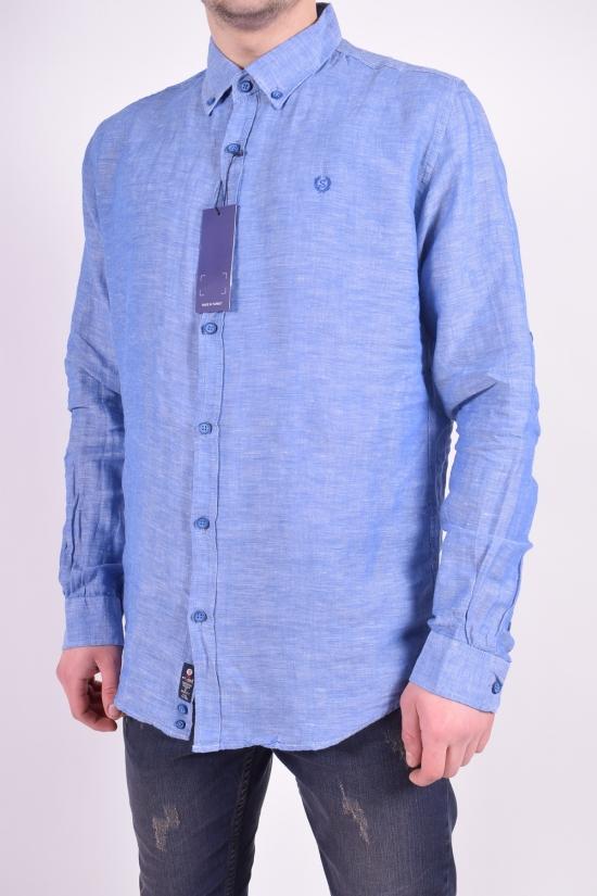 Рубашка мужская (цв.синий) Stendo Размеры в наличии : 46,48,50,52 арт.14213