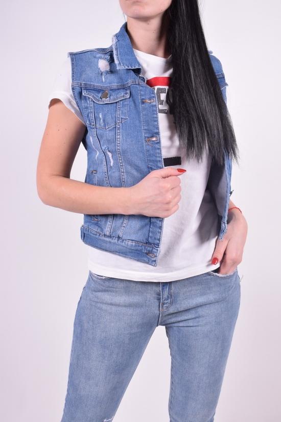 Жилетка джинсовая женская стрейчевая (color 2) Lady Forgina Размеры в наличии : 42,44,46,48 арт.7214
