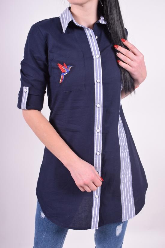 Рубашка-туника женская (цв.т.синий) Madoy Размеры в наличии : 40,42,44,46 арт.45