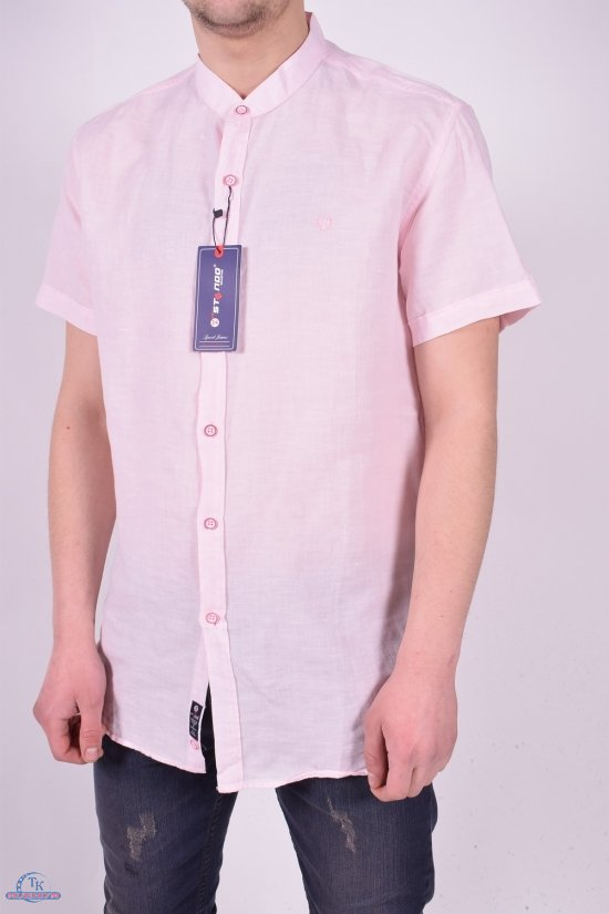 Шведка мужская (цв.розовый) Stendo (Cotton 30%,Linen 70%) Размеры в наличии : 46,48,50,52 арт.14212