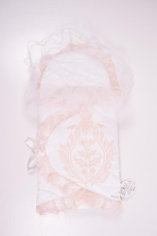 """Конверт для новорожденного (цв.белый/персиковый) """"TOMUYCUK BEBE"""" арт.45112"""
