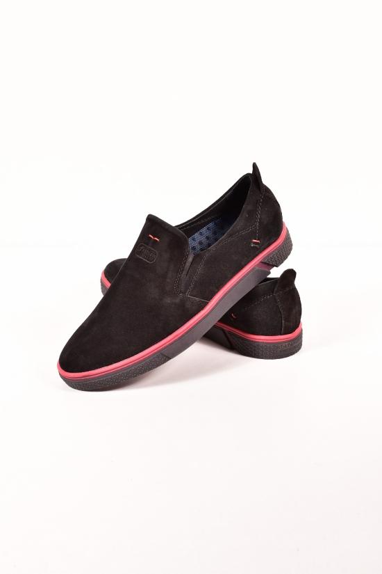 Слипоны мужские из натуральной замши DAN shoes Размеры в наличии : 40,41,42,43,44,45 арт.96ZI126-4/КЛ13