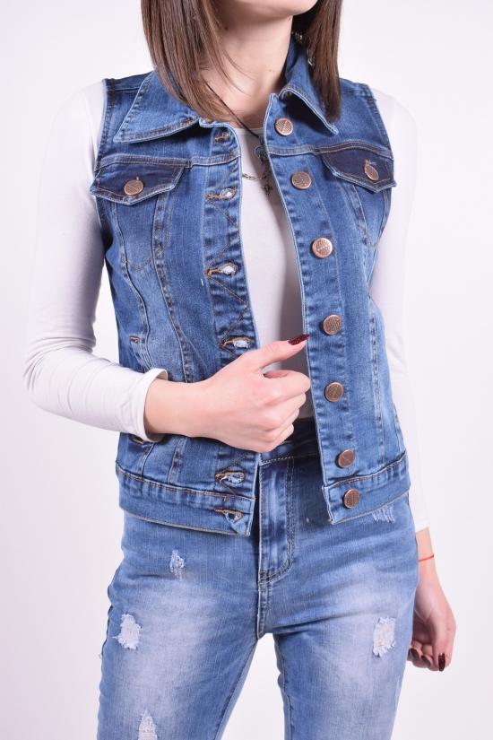 Жилетка женская джинсовая Sincere Размеры в наличии : 38,40,42,44 арт.0260