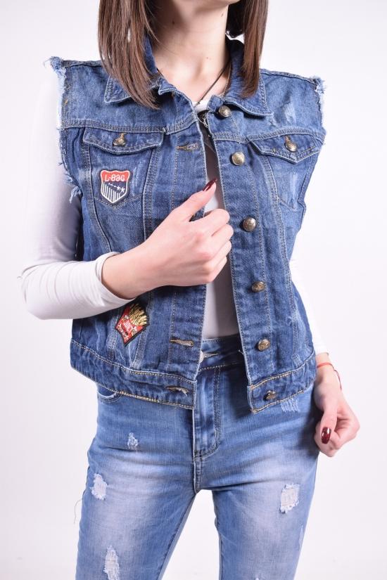 Жилетка  женская джинсовая  NewJeans Размеры в наличии : 38,40,42,44,46,48 арт.D619