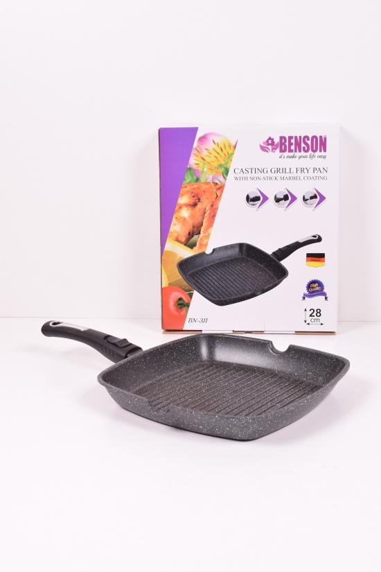 Сковорода литая с антипригарным мраморным покрытием (28 см) Benson арт.BN-311