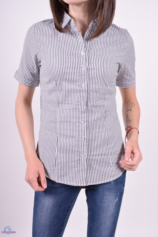 Рубашка  женская (цв.серый) Размеры в наличии : 40,42,44,46,48 арт.A89001