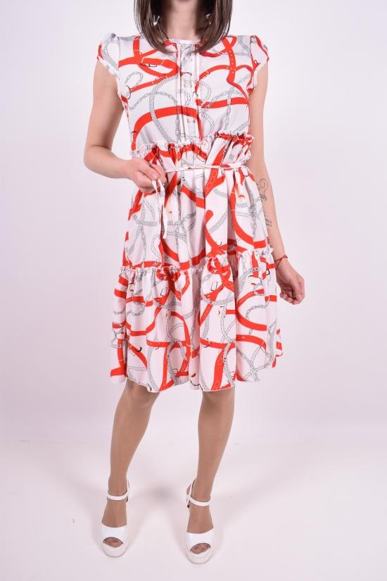 Платье женское летнее (цв.розовый) Размеры в наличии : 42,44 арт.96