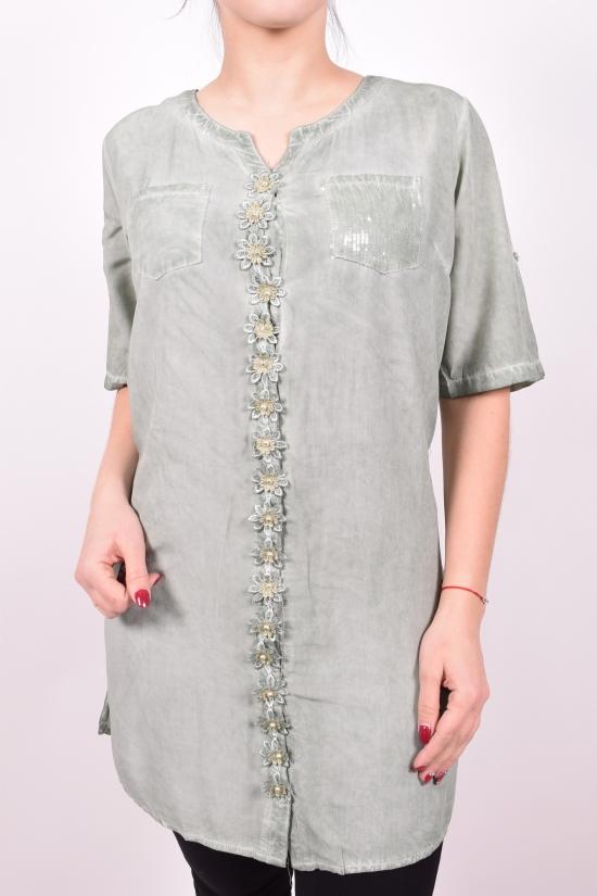 Блуза женская (цв.оливковый) ANGORA Размеры в наличии : 48,50,52,54 арт.9052