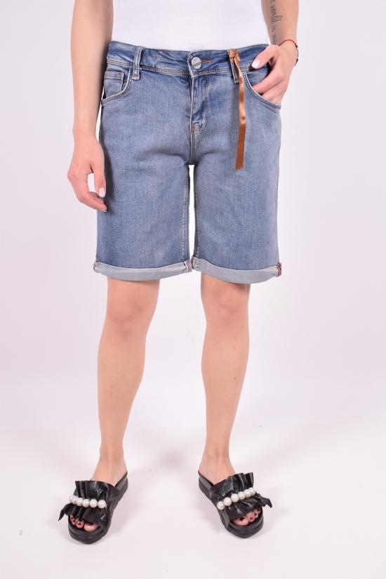 Шорты джинсовые женские стрейчевые (color 2) Pozitif Размеры в наличии : 25,26,27,28,29,30 арт.7354