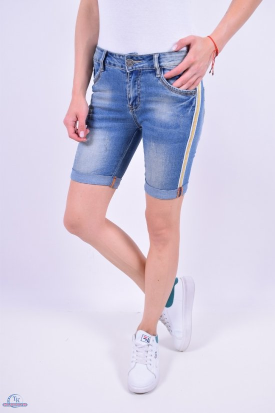 Шорты женские джинсовые котоновые VICTORY.C Размеры в наличии : 25,26,27,28,29,30 арт.A-8202