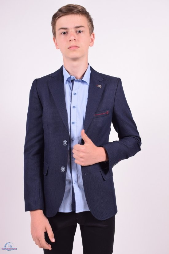 Пиджак для мальчика (Londra)  color 33673  Palmiro rossi Роста в наличии : 146,152,158,164,170,176 арт.4020