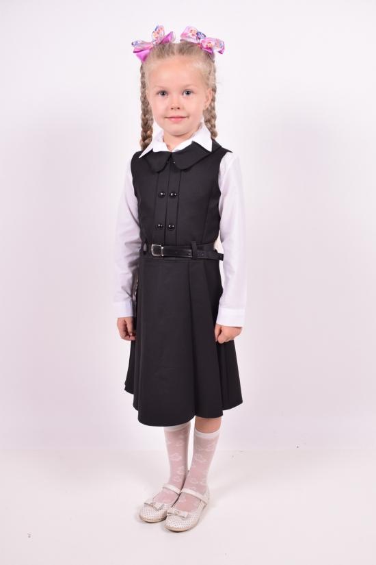 Сарафан  для девочки (цв.черный) PEIDA Рост в наличии : 128, 134, 140 арт.5284