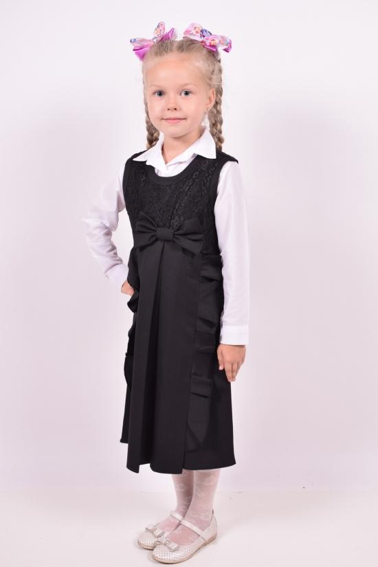 Сарафан для девочки (цв.черный) PEIDA Рост в наличии : 128 арт.5296