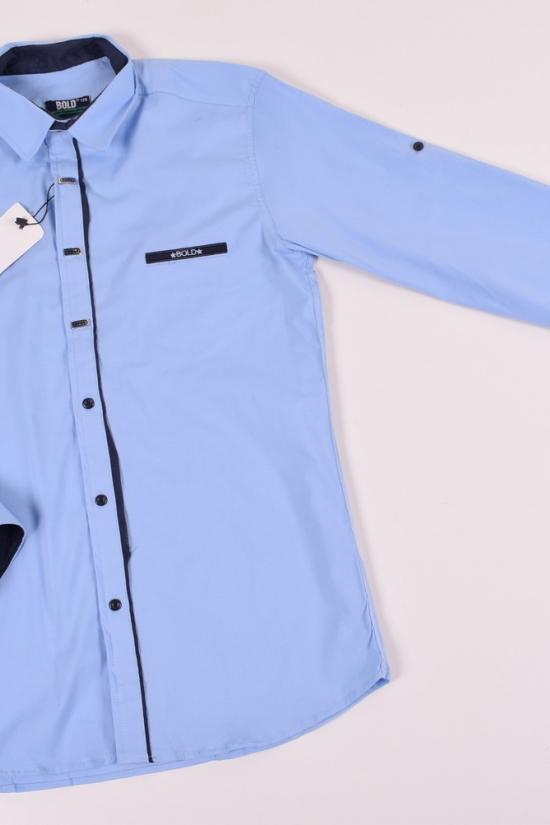 Рубашка для мальчика (цв.голубой) BOLD Рост в наличии : 176 арт.14931