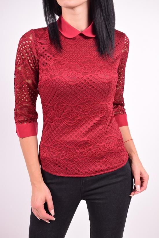 Рубашка женская  (цв.т.бордовый) стрейчевая Размеры в наличии : 40,42,44,46,48 арт.9688