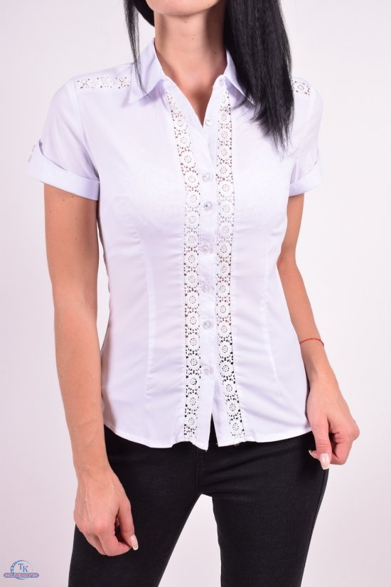 Рубашка женская  (цв.белый) стрейчевая Размеры в наличии : 40,42,44,46,48 арт.8603