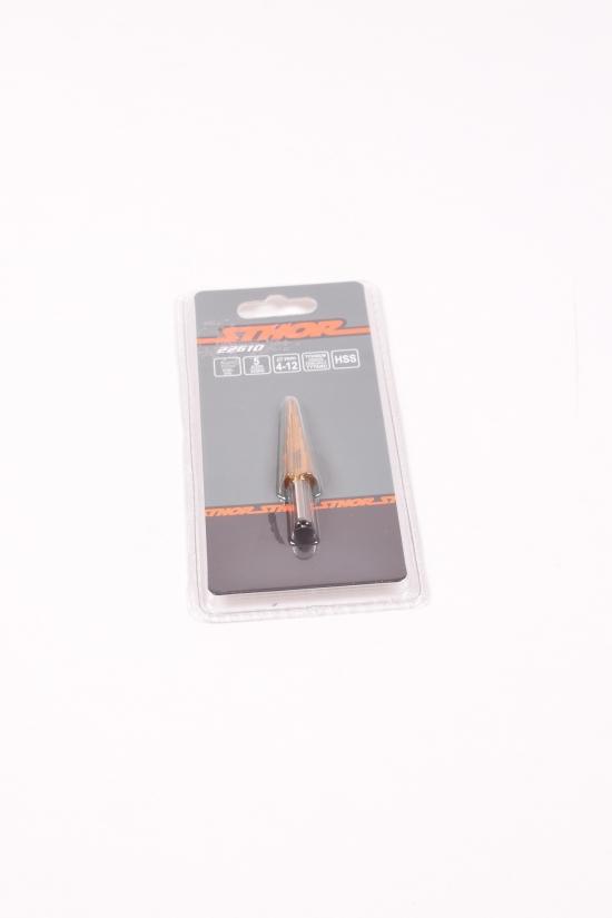 Сверло конечное ступенчатое по металлу STHOR : HSS 4241 4-12mm арт.22610