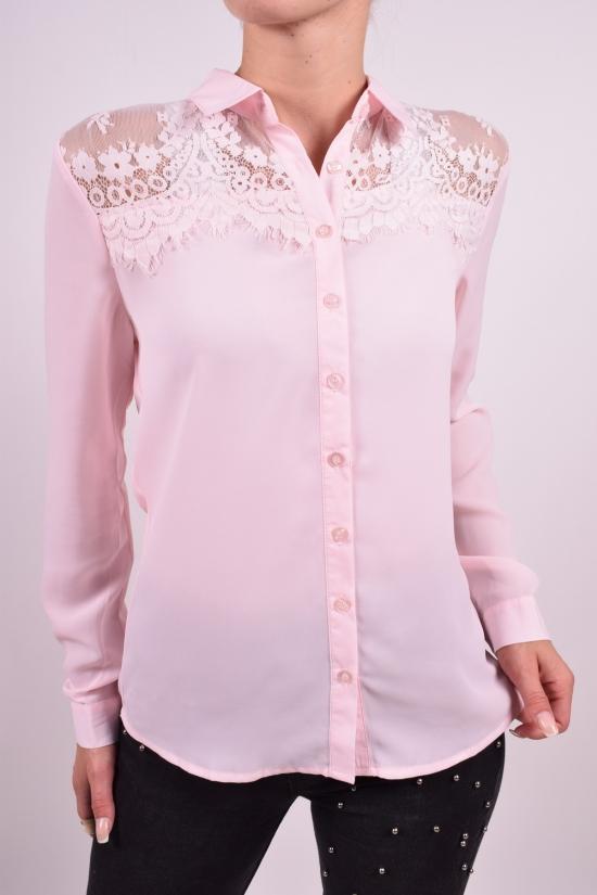 Блуза женская (цв.розовый) шифоновая  Qianzhidu Размеры в наличии : 40,42,44,46,48 арт.50521