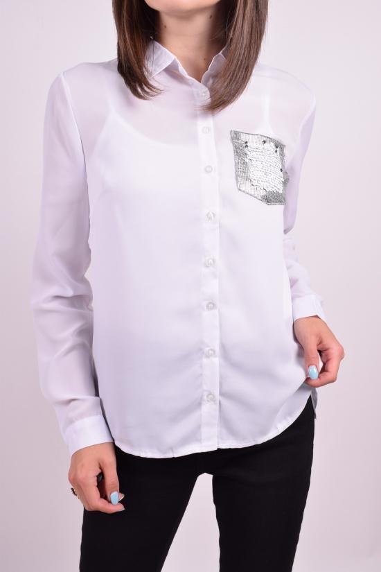 Блуза женская (цв.белый) шифоновая Qianzhidu Размеры в наличии : 40,42,44,46,48 арт.50527