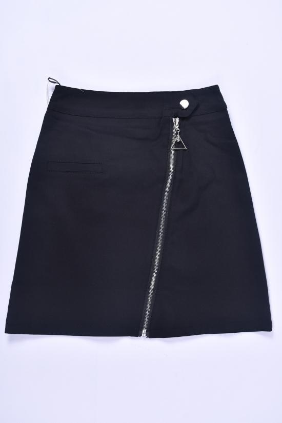 Юбка для девочки стрейчевая (цв.чёрный) Fudeyan Рост в наличии : 29, 134, 140, 146, 152, 158, 170 арт.675