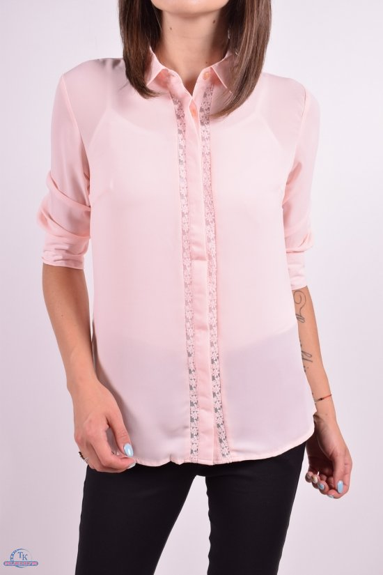 Рубашка женская  ( цв.персиковый) Qianzhidu Размеры в наличии : 42,44,46,48,50 арт.B81021