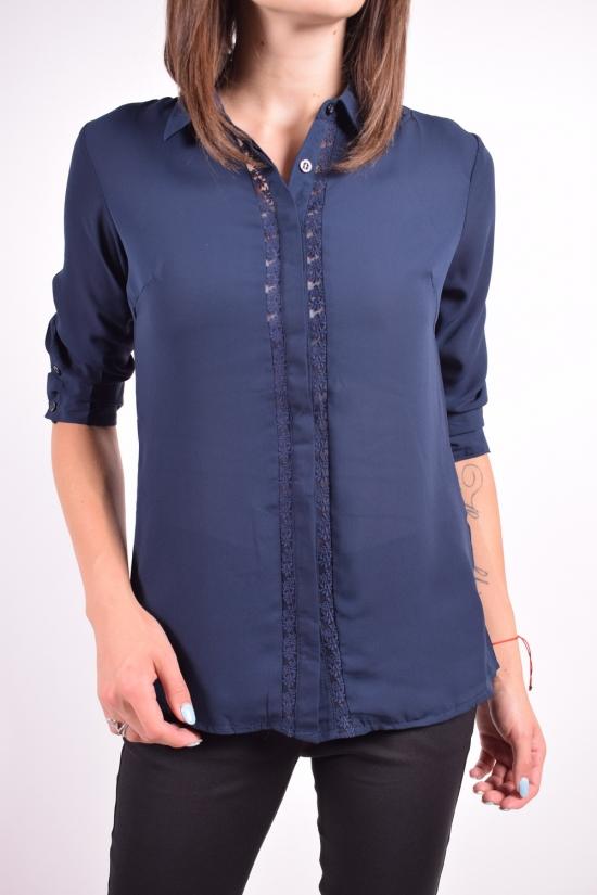 Рубашка женская  ( цв.т/синий) Qianzhidu Размеры в наличии : 42,44,46,48,50 арт.B81021