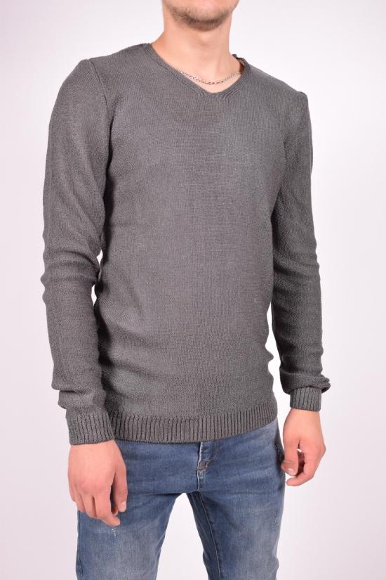 Пуловер мужской (цв.серый) тонкой вязки LAGOS Размеры в наличии : 44,46,48,50 арт.2359