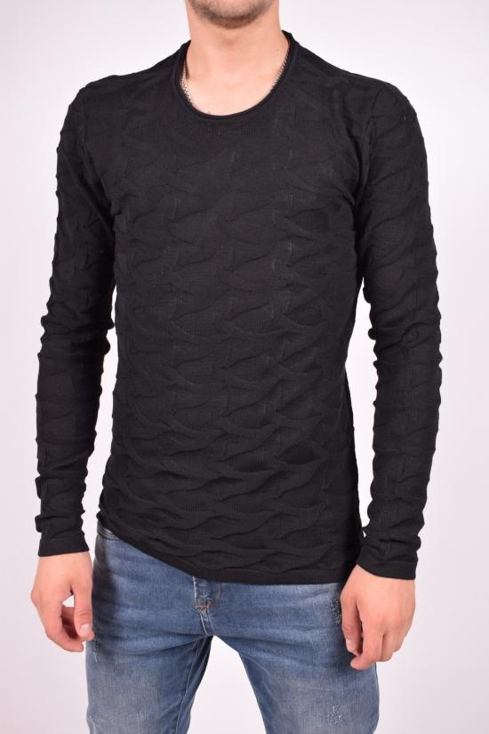 Свитер мужской тонкой вязки (цв.черный) Lagos Размеры в наличии : 44,46,48,50 арт.2337