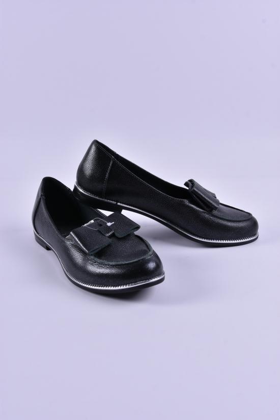 Туфли женские (цв.черный) из натуральной кожи Violetti Размеры в наличии : 36,37,38,39,40,41 арт.202