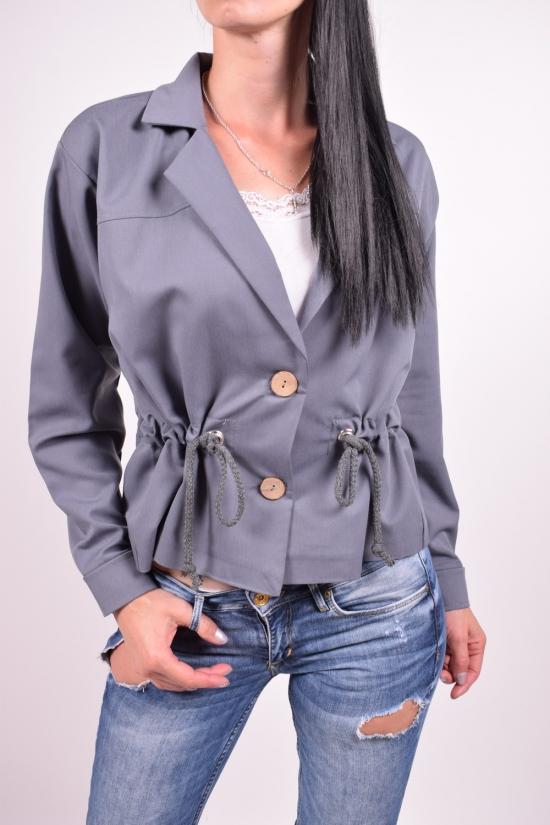 Пиджак женский (цв.серый) Размеры в наличии : 44,46,48,50 арт.838