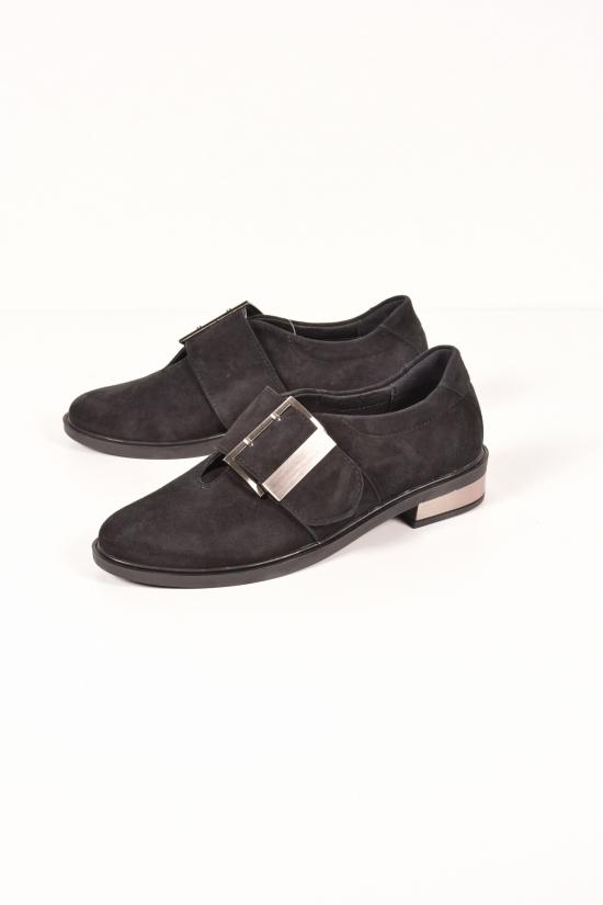 Туфли женские (цв.черный) из натуральной замши SAURINI Размеры в наличии : 36,37,38,39,40 арт.1026