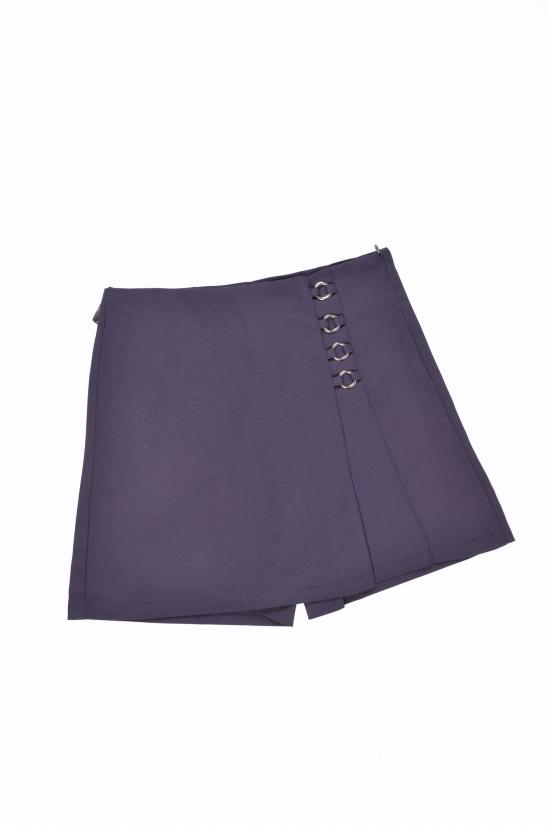 Юбка-шорты для девочки стрейчевые (цв.т.синий) Fudeyan Рост в наличии : 158, 170 арт.696