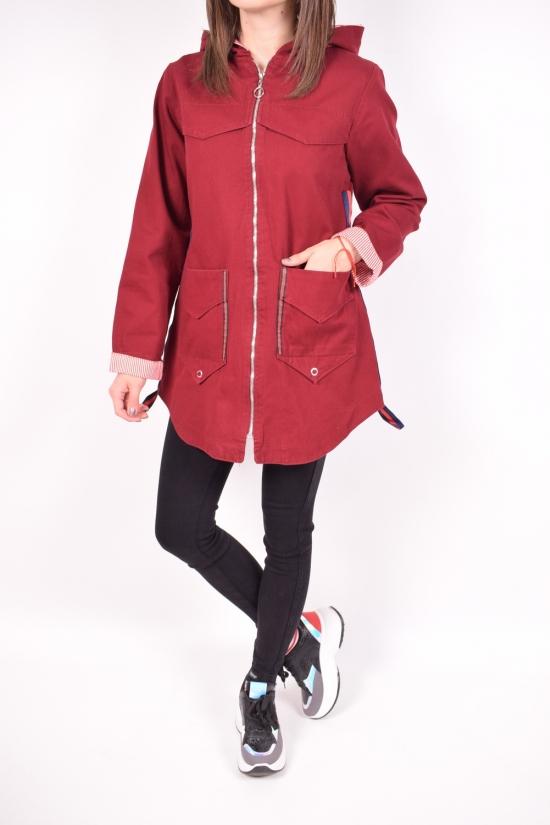 Ветровка женская (цв.бордовый) котоновая Zahram Размер в наличии : 48 арт.620