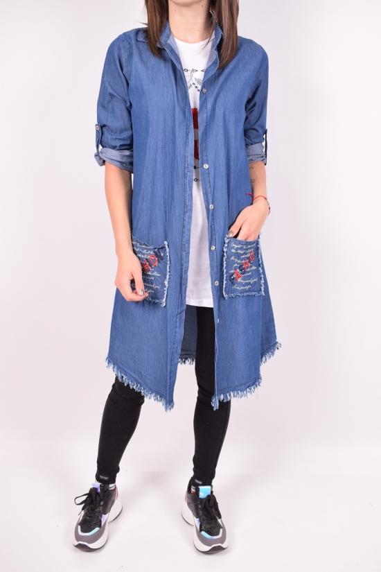 Рубашка-туника джинсовая + майка женская (цв.синий) Moda Berhan Размеры в наличии : 40,42 арт.FASHION