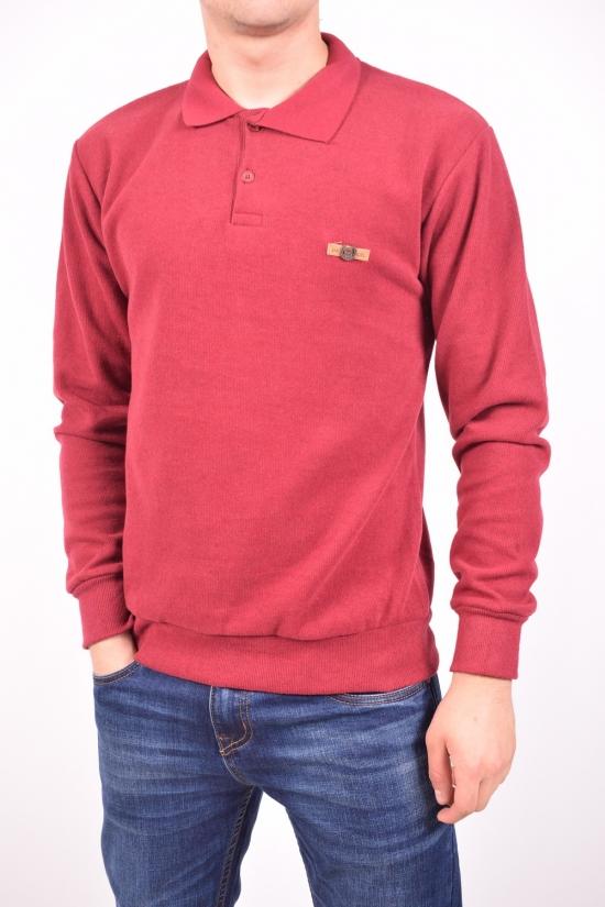 Джемпер POLO мужской (цв.бордовый) трикотажный провелюренный XAN Размеры в наличии : 42,44,46,48,50 арт.9543