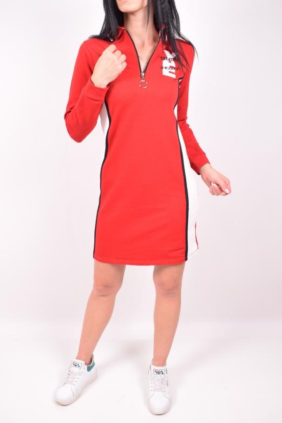 Платье спортивное женское (цв.красный) трикотажное  Pudra Размеры в наличии : 40,42 арт.11591