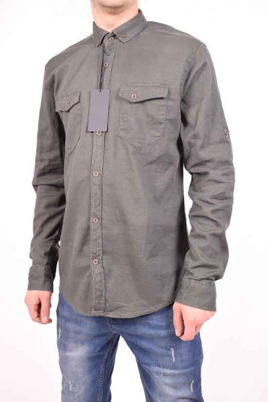 Рубашка мужская котоновая (цв.хаки) TRICKO Размеры в наличии : 44,46 арт.9GM-PM-P-0013