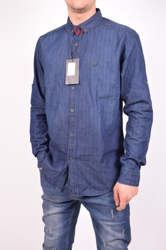 Рубашка мужская котоновая (цв.т.синий) TRICKO Размеры в наличии : 42,44,48 арт.9GM-PM-KOT-0001