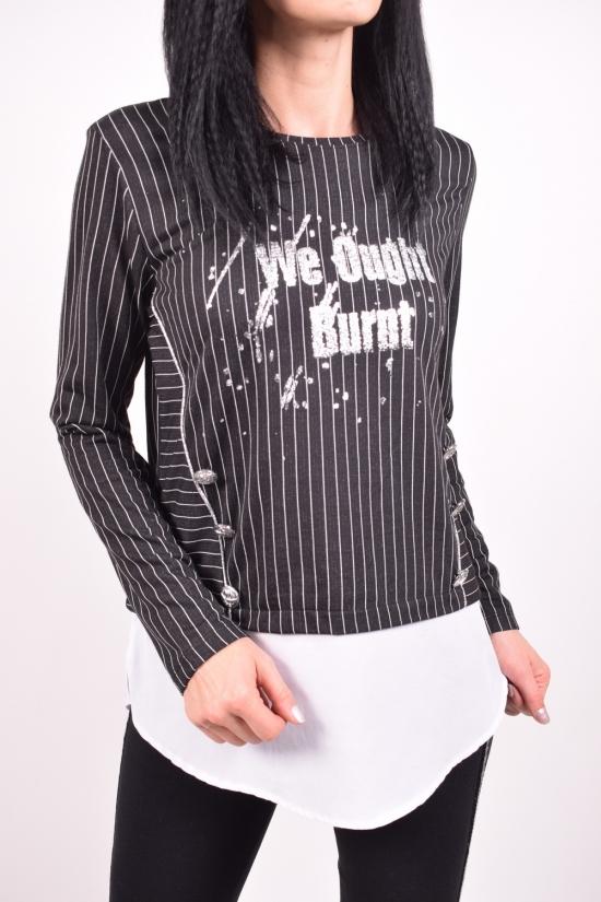Блуза женская (цв.черный) ESTASI Размеры в наличии : 40,42,44,46 арт.C9133