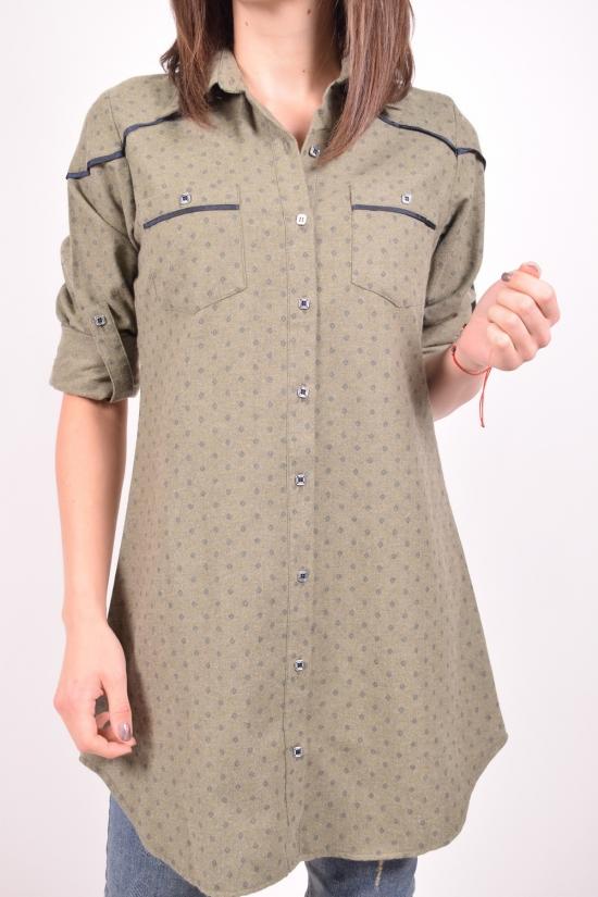 Рубашка-туника женская  (цв.хаки) Rimoda Размеры в наличии : 44,46,48,50 арт.7327