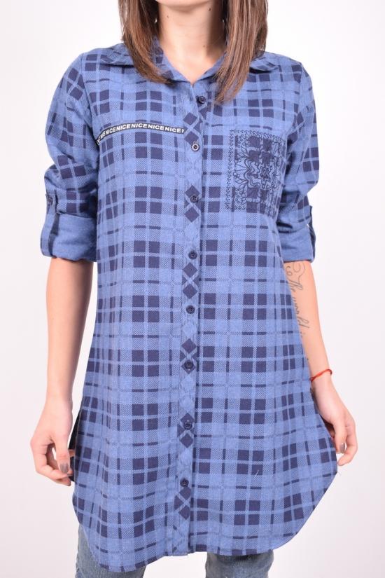 Рубашка-туника женская  (цв.синий) Rimoda Размеры в наличии : 42,44,46,48,50 арт.7405