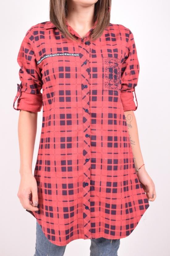 Рубашка-туника женская  (цв.красный) Rimoda Размеры в наличии : 42,44,46,48,50 арт.7405